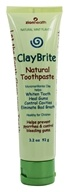 Zion Health - ClayBrite Natural Toothpaste Natural Mint - 3.2 oz. by Zion Health