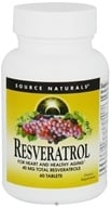 Source Naturals - Resveratrol 40 mg. - 60 Tablet(s), from category: Nutritional Supplements