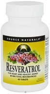 Source Naturals - Resveratrol 40 mg. - 60 Tablet(s) (021078010111)