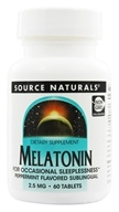 Image of Source Naturals - Melatonin Sublingual Peppermint 2.5 mg. - 60 Tablet(s)