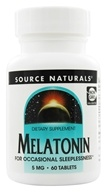 Source Naturals - Melatonin 5 mg. - 60 Tablet(s) (021078005568)