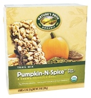 Image of Nature's Path Organic - Chewy Granola Bars Flax Plus Trail Mix Pumpkin-N-Spice - 6 Bars