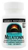 Image of Source Naturals - Melatonin Sublingual Orange 5 mg. - 50 Tablet(s)