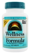 Image of Source Naturals - Wellness Formula Herbal Defense Complex - 45 Tablets