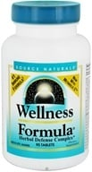 Image of Source Naturals - Wellness Formula Herbal Defense Complex - 90 Tablets