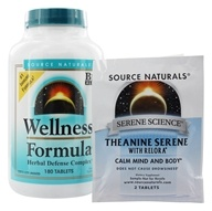 Image of Source Naturals - Wellness Formula Herbal Defense Complex - 180 Tablets