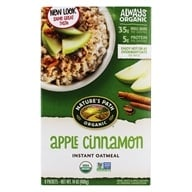 Nature's Path Organic - Instant Hot Oatmeal 8 x 50g Packets Apple Cinnamon - 14 oz. (058449450047)