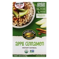 Image of Nature's Path Organic - Instant Hot Oatmeal 8 x 50g Packets Apple Cinnamon - 14 oz.