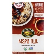 Image of Nature's Path Organic - Instant Hot Oatmeal 8 x 50g Packets Maple Nut - 14 oz.
