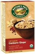 Nature's Path Organic - Instant Hot Oatmeal 8 x 40g Packets Optimum Cranberry Ginger - 11.2 oz. (058449450122)