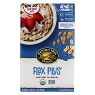 Image of Nature's Path Organic - Instant Hot Oatmeal Flax Plus 8 x 50g Packets - 14 oz.