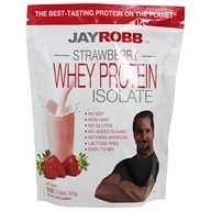 Jay Robb - Whey Protein Isolate Powder Strawberry - 12 oz.