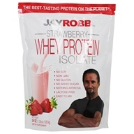 Jay Robb - Whey Protein Isolate Powder Strawberry - 24 oz.