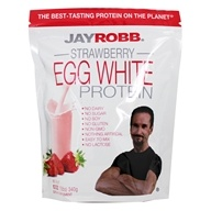Image of Jay Robb - Egg White Protein Powder Strawberry - 12 oz.