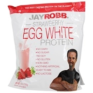 Image of Jay Robb - Egg White Protein Powder Strawberry - 80 oz.