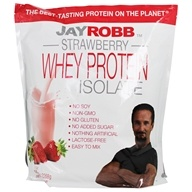 Jay Robb - Whey Protein Isolate Powder Strawberry - 80 oz.