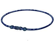 Phiten - Titanium Necklace Star 22 inch Navy - CLEARANCE PRICED