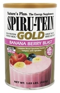 Nature's Plus - Spiru-Tein Gold High Protein Energy Meal Powder Banana Berry Blast - 1.03 lbs.