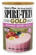 Image of Nature's Plus - Spiru-Tein Gold High Protein Energy Meal Powder Banana Berry Blast - 1.03 lbs.