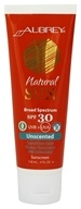 Aubrey Organics - Natural Sun Sunscreen High Protection Unscented 30 SPF - 4 oz.