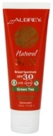 Aubrey Organics - Natural Sun Sunscreen High Protection Green Tea 30 SPF - 4 oz., from category: Personal Care