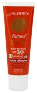 Aubrey Organics - Natural Sun Sunscreen High Protection Active Lifestyles Tropical Scent 30 SPF - 4 oz.