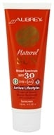 Aubrey Organics - Natural Sun Sunscreen High Protection Active Lifestyles Tropical Scent 30 SPF - 4 oz. by Aubrey Organics