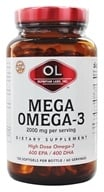 Olympian Labs - Mega Omega-3 Fish Oils 2000 mg. - 120 Softgels (710013031488)