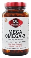 Olympian Labs - Mega Omega-3 Fish Oils 2000 mg. - 120 Softgels - $21.90
