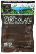 Kopali Organics - Organic Dark Chocolate Covered Espresso Beans - 2 oz.