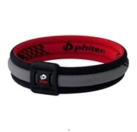 Image of Phiten - Titanium Bracelet X30 Edge 7 1/2 inch Black/Red - CLEARANCE PRICED