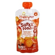 HappyBaby - HappyTot Organic Superfoods Stage 4 Sweet Potato, Apple, Carrot, & Cinnamon - 4.22 oz. (852697001286)