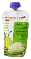 HappyBaby - HappyTot Organic Superfoods Stage 4 Green Bean, Pear & Peas - 4.22 oz. (852697001279)