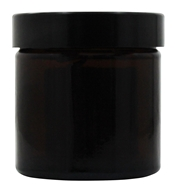 Sanctum Aromatherapy - Amber Glass Cream Jar with Black Screw On Lid - 60 ml. - $2.89