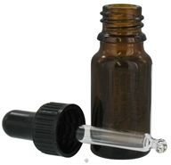 Sanctum Aromatherapy - Amber Glass Bottle with Black Pipetter Cap - 10 ml.