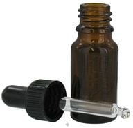 Image of Sanctum Aromatherapy - Amber Glass Bottle with Black Pipetter Cap - 10 ml.