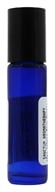 Image of Sanctum Aromatherapy - Cobalt Blue Glass Bottle with Roll On Applicator and Black Cap - 10 ml.