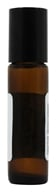 Image of Sanctum Aromatherapy - Amber Glass Bottle with Roll On Applicator and Black Cap - 10 ml.