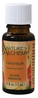 Nature's Alchemy - 100% Pure Essential Oil Geranium - 0.5 oz. (079565003153)