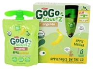 GoGo squeeZ - Organic Applesauce On The Go Apple Banana - 4 Pouches