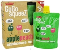 Materne - GoGo Squeez AppleSauce On The Go Apple Peach - 4 Pack/3.2 oz.