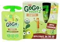 GoGo squeeZ - Organic Applesauce On The Go Apple Cinnamon - 4 Pouches