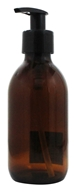 Sanctum Aromatherapy - Glass Bottle with Black Lotion Pump & Cap Amber - 200 ml.