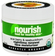 Nourish - Nighttime Renewal Face Moisturizer Acai Berry & Sea Buckthorn - 2 oz. LUCKY DEAL
