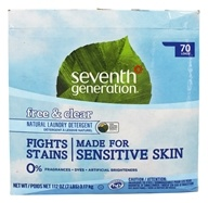 Seventh Generation - Natural Laundry Detergent Free & Clear - 112 oz. by Seventh Generation