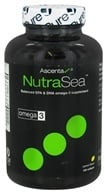 Ascenta Health - NutraSea Balanced EPA & DHA Omega 3 Supplement Lemon Flavor - 120 Softgels