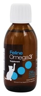 Ascenta Health - Feline Liquid Omega 3 EPA & DHA Fish Oil Supplement Ocean Fish Flavor - 4.7 fl. oz.