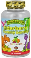 Kal - Dinosaurs For Kids Elderberry Yummy Gummy Tutti Frutti - 60 Gummies, from category: Vitamins & Minerals
