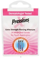 Tattoo Goo - X-Pressions Medicated Swabs Extra Strength Piercing Aftercare - 24 Pack