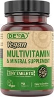 Image of Deva Nutrition - Vegan Multivitamin & Mineral Supplement Tiny Tablets - 90 Tablets